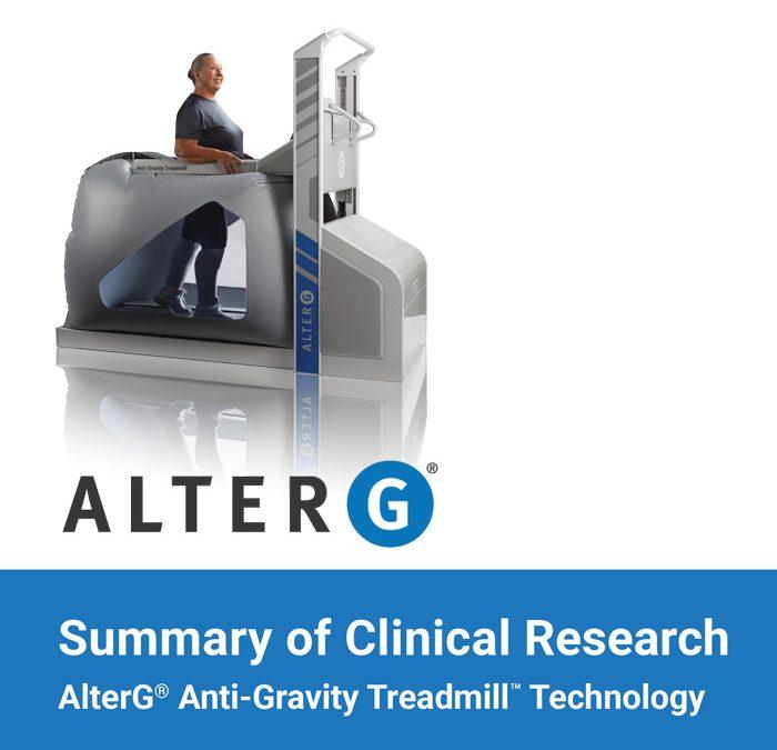 Resumo da pesquisa clínica Alter G